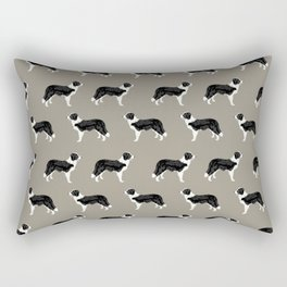 Border Collie dog pattern pet friendly dog art dog lover gifts with favorite dog breeds Rectangular Pillow
