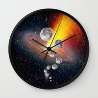 sci fi Wall Clocks featuring Sci-Fi Space Universe by  Agostino Lo Coco