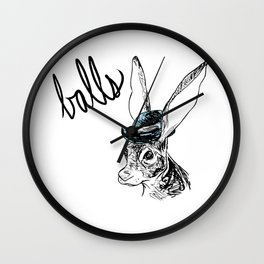 Dirty Dishes-- Hare Wall Clock