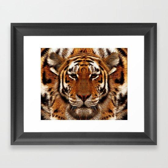 camouflage tiger Framed Art Print