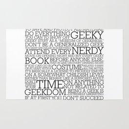 Proud Geek Manifesto Rug