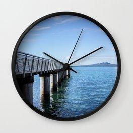 Fishing Pier Wall Clock