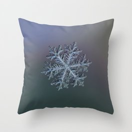 Real snowflake - Hyperion dark Throw Pillow