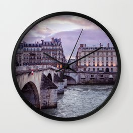 Le Pont Royal, Paris. Wall Clock