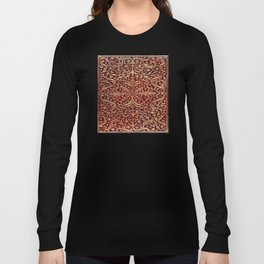 Golden Swirled Red Book Cover Long Sleeve T-shirt