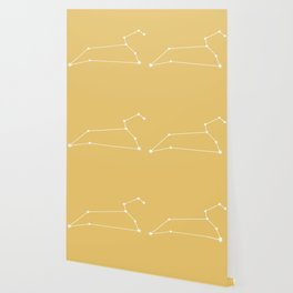 Leo Zodiac Constellation - Warm Yellow Wallpaper