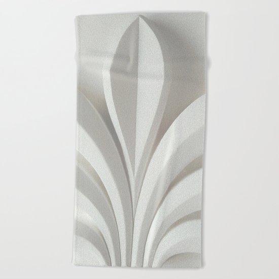 White sculpture Beach Towel