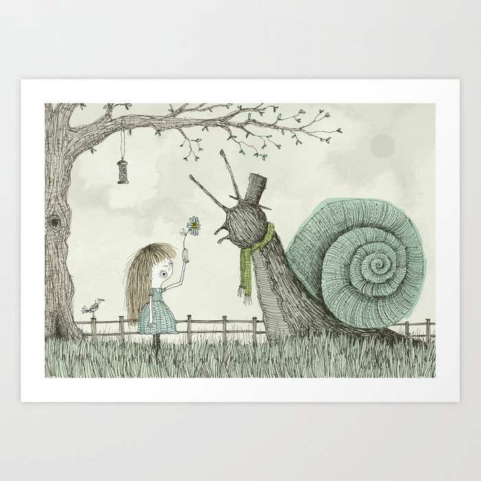 'In The Garden' Art Print