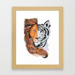 Lion & Tige Framed Art Print