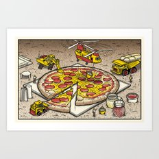 Pizza Time Art Print