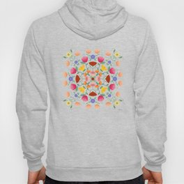 Folk Art Inspired Garden Of Fantastic Floral Delight Hoody