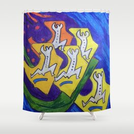 The Running Men Shower Curtain
