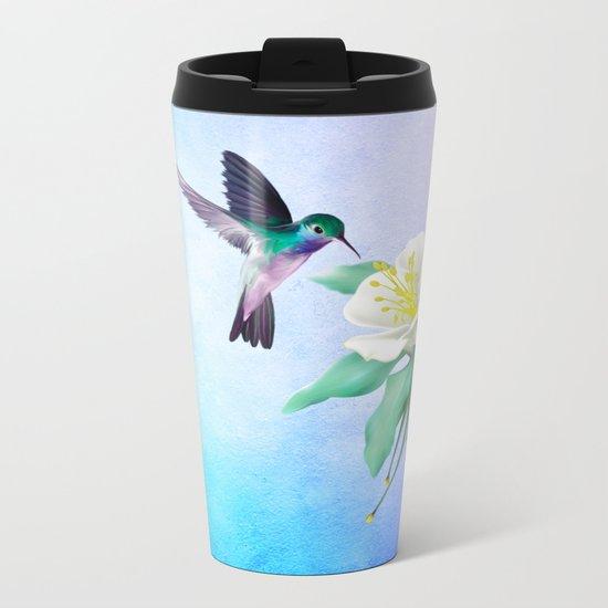 hummingbird. Metal Travel Mug