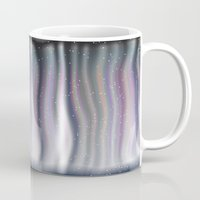 northern lights Mugs featuring Northern Lights by Bonnie Phantasm