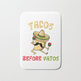 Tacos Before Vatos - Cinco De Mayo Bath Mat