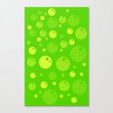 Bubblemagic - Lime Canvas Print