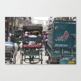 Busy Delhi Streets Canvas Print