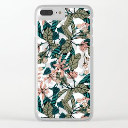 Lover botanical blooming Clear iPhone Case