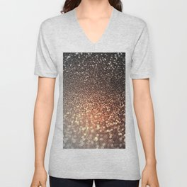 Tortilla brown Glitter effect - Sparkle and Glamour Unisex V-Neck