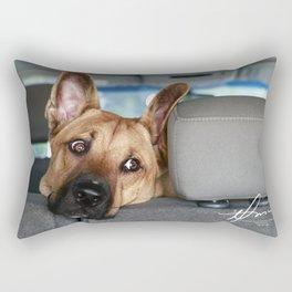 Tanner In the Backseat Rectangular Pillow
