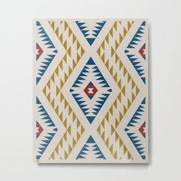Native-Inspired Pattern Metal Print