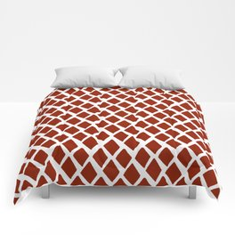 Rhombus Red And White Comforters