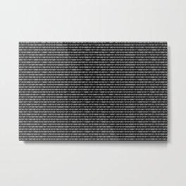 Binary Code in DOS Metal Print