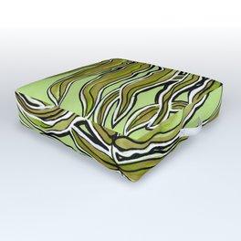 Green Leafy Zen Leaf Outdoor Floor Cushion
