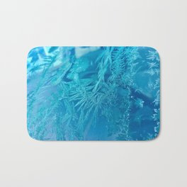 Hoar Frost Ice Crystals Bath Mat