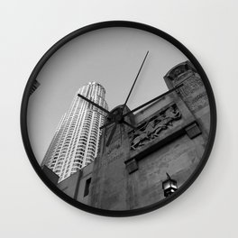 Grey skies Wall Clock