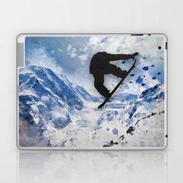 Snowboarder In Flight Laptop & iPad Skin