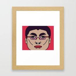 Asian Badass : the Iron Black Framed Art Print