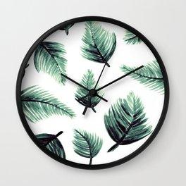 Danae-Leaves in the air Wall Clock