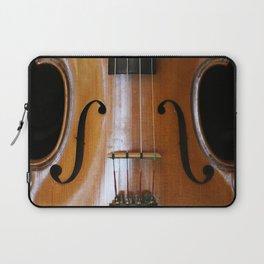 Close-up of Beautiful Violin Black Background #decor #society6 #buyart Laptop Sleeve