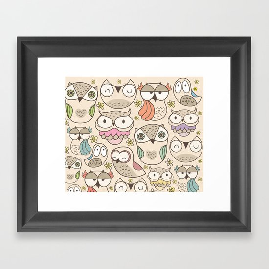 The owling Framed Art Print