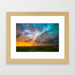 Glorious - Stormy Sky and Kansas Sunset Framed Art Print