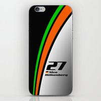 f1 iPhone & iPod Skins featuring F1 2015 - #27 Hulkenberg by MS80 Design