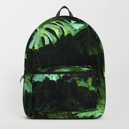 Adventure Jungle Palm Leaves On Vine Backpack