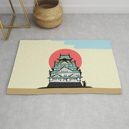 Osaka castle Rug