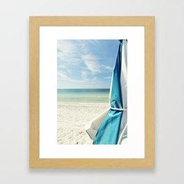 Beach Umbrella Framed Art Print
