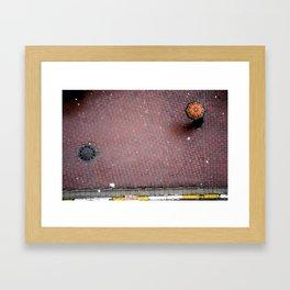 orange flake Framed Art Print