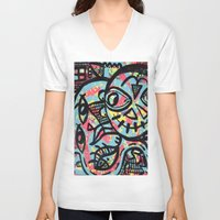 cheshire V-neck T-shirts featuring Cheshire by Lisa Brown Gallery