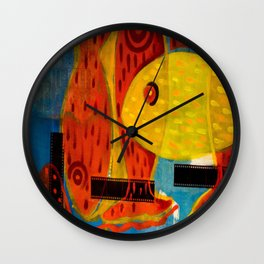 Crossing reds Wall Clock