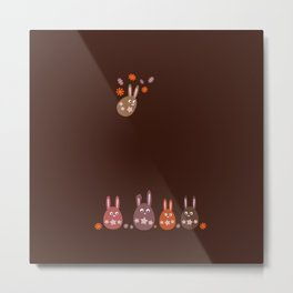 Easter Egg Chocolate Bunnies - Make Room For Me! Metal Print