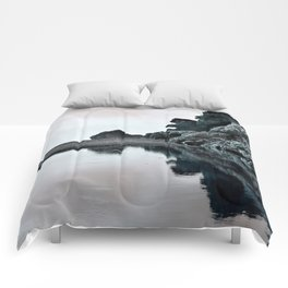 Reflections Of A Floating Coast Comforters