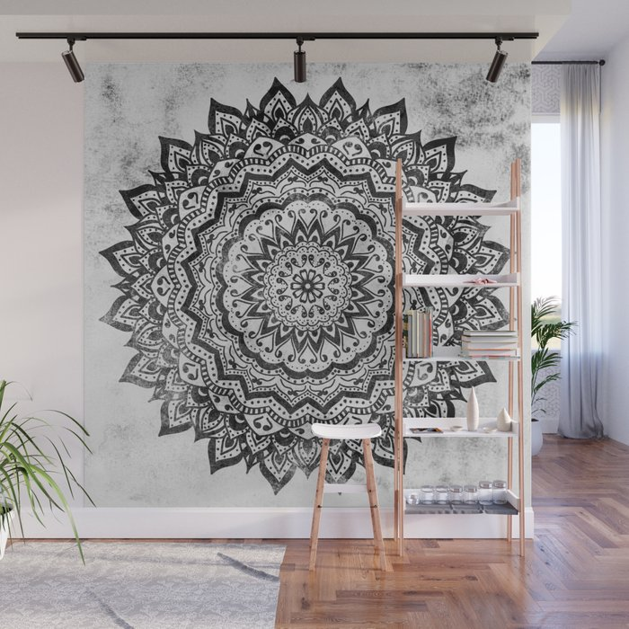 BLACK JEWEL MANDALA Wall Mural