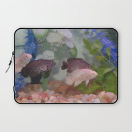 Four Oscars swimming in an aquarium (Painted) Laptop Sleeve
