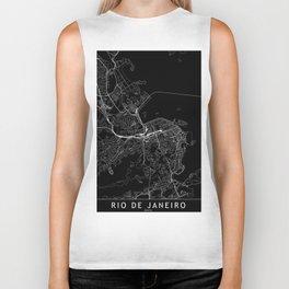 Rio De Janeiro Black Map Biker Tank