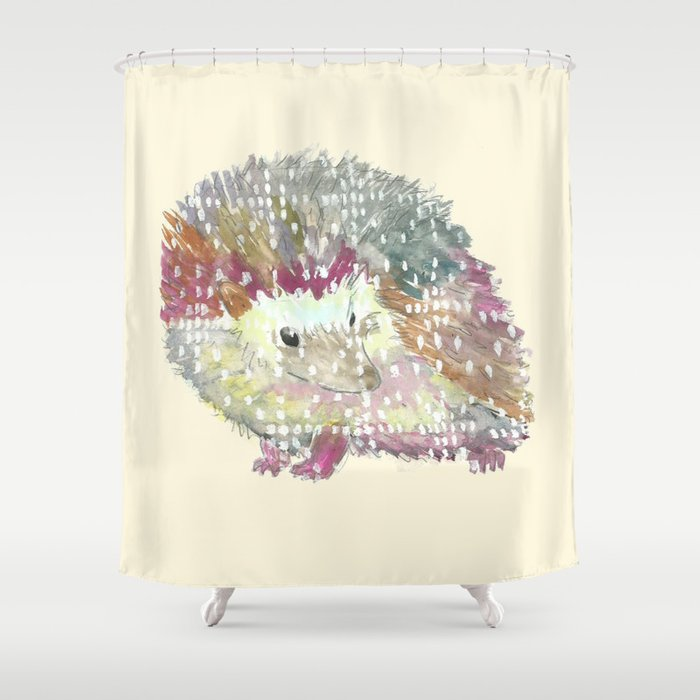 Ugly Sweater Hedgehog Shower Curtain
