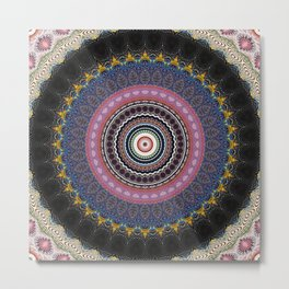 Recreational Maylanta Mandala 17 Metal Print